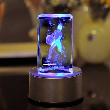 水瓶座-七彩水晶12星座