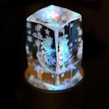 七彩光水晶圣诞雪花树