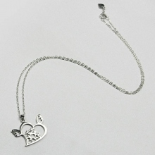 爱心天使925纯银名字项链