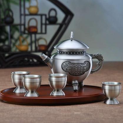 纯锡百年兴隆茶具套装