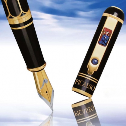 毕加索拿烟斗的男孩18K金墨水笔