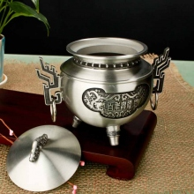 纯锡百年兴隆茶叶罐