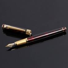 毕加索法国绅士玛瑙红金夹镀金笔