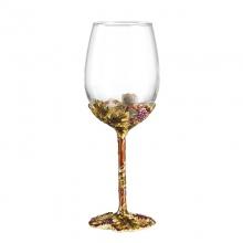 珐琅彩金色收获酒具套装