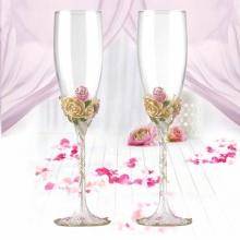 珐琅彩钟爱一生香槟婚礼对杯