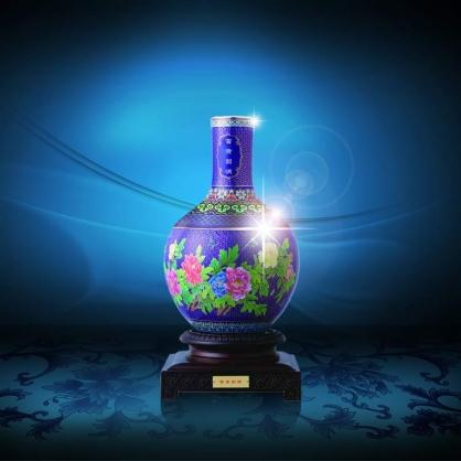 景泰蓝富贵圆满花瓶
