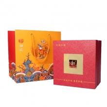 和谐宝瓶釉中红瓷描金花瓶