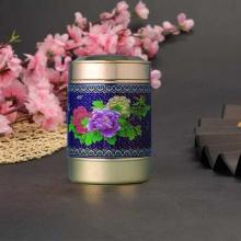 景泰蓝富贵牡丹茶叶罐