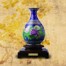 景泰蓝富贵迎春花瓶