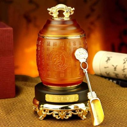 博之源茶到福到玻璃茶叶罐