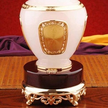 博之源大富大贵琉璃玉花瓶摆件