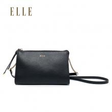 ELLE/她 新款牛皮女士单肩斜挎包