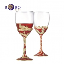 罗比罗丹(RORO)珐琅彩龙凤呈祥婚庆对杯