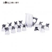 罗比罗丹(RORO)十二生肖兽首玻璃白酒杯