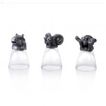 罗比罗丹十二生肖兽首白酒杯摇酒器烈酒杯套装