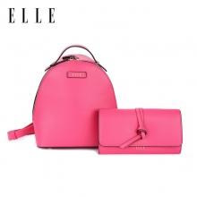 ELLE(她)时尚双肩背包+单肩链条包套装