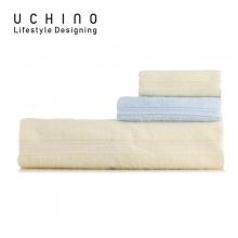 内野(uchino)缎档风尚家庭装毛巾礼盒