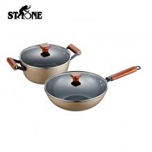 司顿(STONE)陶晶不粘锅两件套