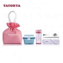 多样屋(TAYOHYA)粉晶圆形提手双层便当盒