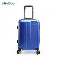 维仕蓝(wissBlue)20寸ABS蓝色拉杆箱