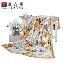 富安娜(FUANNA)清墨染法兰绒毯