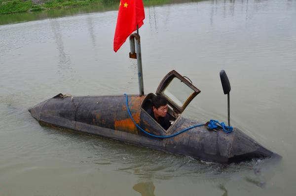 农民发明新型潜水艇